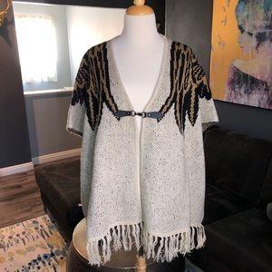 Vertigo Poncho/Cape Sweater